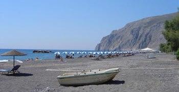 Beach, Kamari, Santorini